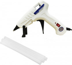 W WADRO White|100 Watt|Leak Proof with On Off Switch|Indicator and 5 Adhesive Glue Sticks High Temperature Corded Glue Gun(7 mm)