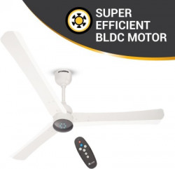 Atomberg Renesa+ 1200 mm BLDC Motor with Remote 3 Blade Ceiling Fan(Pearl White, Pack of 1)