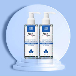 Mirah Belle - Hair Softening Repair and Nourishing Hair Shampoo - Bhringraj, Shikakai, Amla - Best for Dry and Rough Hair - Makes Hair Smooth and Soft - For Men and Women - 200 ml