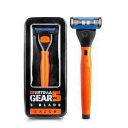 Ustraa Gear 5 Shaving Razor (Handle + Blade) - Orange