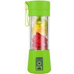 Qualimate Portable Electric USB Juicer Bottle Blender Drink Bottle Cup Juice Maker Machine for Fruits (Multicolour)
