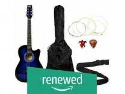 (Renewed) Intern INT-38C Acoustic Guitar Kit (Blue) Rs. 1692 - Amazon