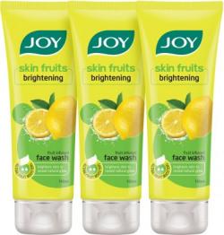 Joy Skin Fruits Active Fairness Face Wash (Lemon)(Pack of 3 x 100 ml) Face Wash(300 ml)