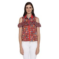 Akkiriti by pantaloons women's synthetic a_line kurta 80% off