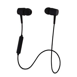 Smazing® Dvao Wireless Bluetooth Earphones Stereo Sweatproof Magnetic Earbuds Secure Fit with Built-in Mic Microphone (X6 1st Gen Black)