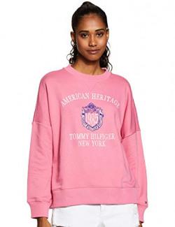 Tommy Hilfiger Women's Cotton Sweatshirt (A9AWH122L_Chateau Rose_Large)
