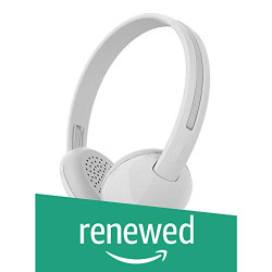 (Renewed) Skullcandy Stim On-Ear Headphones with Mic (White/Grey)
