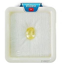 Fedput Pukhraj Stone/Yellow Saphhire in 7.25 Ratti (AAA Quality Gemstone)