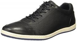 Hush Puppies Men's Titan Derby Black Leather Sneakers-9 (8246843090_8246843)