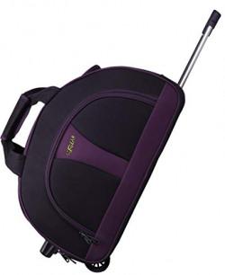 F Gear Cooter Polyester Black Purple Medium 42 Liter Travel Duffle bag-22 inch