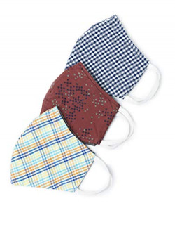 Extra Coupon Off - Diverse Cotton Unisex Face Mask Multicolor, Free Size, Pack of 3