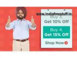 Flipkart Buy More, Save More Buy 3 get 5% off, Buy 4 Get 10% off