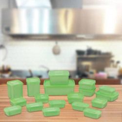Mastercook Combo Packs - 7170 ml Polypropylene Grocery Container  (Pack of 18, Green)