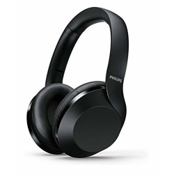Philips Audio Performance TAPH802BK Hi-Res Audio Bluetooth 5.0 Over-Ear Headphones with Quick Charge (Black)