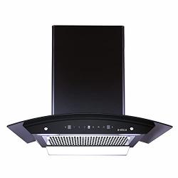 Elica 60 cm 1200 m3/hr Filterless Auto Clean Chimney (WDFL 606 HAC MS NERO, Motion Sensor Control, Black)