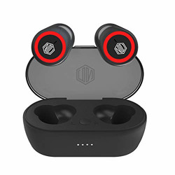 Nu Republic Starbuds 4 True Wireless Earbuds (TWS) BT V5.0, Upto 20Hrs Play Time, Compact Charging Case, Sweat & Water Resistant, Voice Assistant/Siri with in-Built Mic-Black & Red