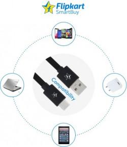 Flipkart SmartBuy ACRPB1M02 1 m USB Type C Cable(Compatible with Mobile, Tablet, Black)