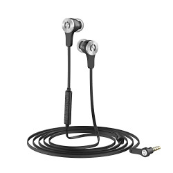 MuveAcoustics Drive MA-1000SB Wired in-Ear Headphones with Mic (Steel Black)