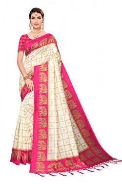 ANNI DESIGNER Art Silk with Blouse Piece Saree