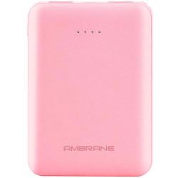 Ambrane 5000mAh Li-Polymer Powerbank with Fast Charging & Compact Size (PP-501, Pink)