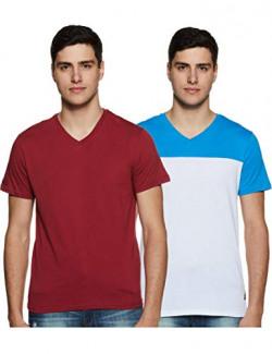 Amazon Brand - Symbol Men's Solid Regular Fit T-Shirt (Pack of 2) (SS20SYMTEE38-B_Multi-CLR2 M)