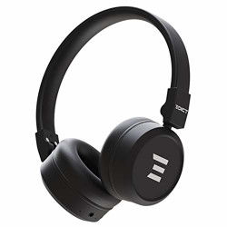 EDICT by Boat EWH01 On-Ear Wireless Headphone with Punchy Bass, AUX Connectivity, Up to 10H Nonstop Audio Time, Lightweight Padded Ear Cushions, Mic & Instant Voice Assistant(Black)