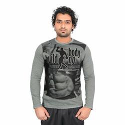 Vector X VTC-002-K Full Sleeves Cotton Round Neck T Shirt (S)