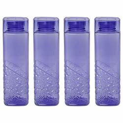 Steelo Emerald Pet Water Bottle 1000 ml, Set of 4, Evening Blue