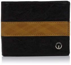 Integriti Black & Yellow Synthetic Men's Wallet (INT-O-W-02 STNDRD BLCKYLW)
