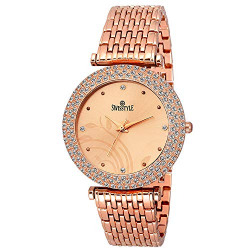 SWISSTYLE Analogue Women's & Girls' Watch (Copper Dial Copper Colored Strap)