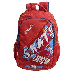 Mufubu Presents Skate Board School College Bag for Boys & Girls, Office Backpack for Mens, Student Casual Backpack (Red)