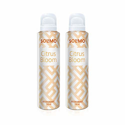 Amazon Brand - Solimo Citrus Bloom Gas Deodorant for Women - Pack of 2
