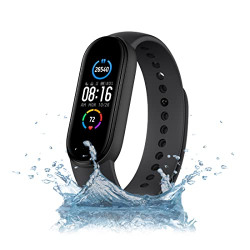 Mi Smart Band 5  Indias No. 1 Fitness Band, 1.1-inch AMOLED Color Display, Magnetic Charging, 2 Weeks Battery Life, Personal Activity Intelligence (PAI), Womens Health Tracking