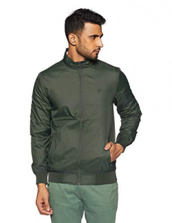 Allen Solly Men's Jacket (ASJKOBOPY84400_Olive_S)