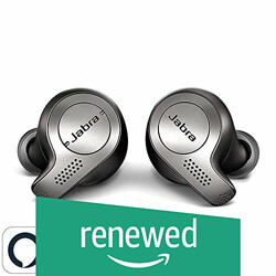 (Renewed) Jabra Elite 65t Alexa Enabled True Wireless Earbuds with Charging Case (Titanium Black)