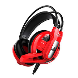 Ant Esports H520W World of Warships Edition Wired Gaming Headset for PC / PS4 / Xbox One/Nintendo Switch/Computer and Mobile - Red