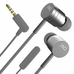 Zinq Technologies ZQEP-222-BASSIST    High Bass Earphones    Mobile Wired Earphone with Mic    Headphones for Mobile - Silver