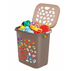 Milton Hamper Laundry/Toy Organizer Basket, 35 litres, Brown