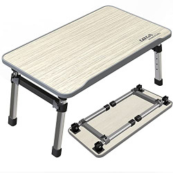 Gizga Essentials Smart Multi-Purpose Laptop Table  Study Table  Bed Table  Foldable  Adjustable Table Height  Ergonomic w/Non-Slip Legs Ideal for Work from Home  Kids
