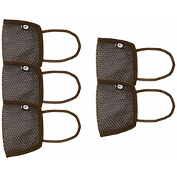Fort Collins Unisex Cotton Face Mask (Pack of 5) (103_Black_One Size)