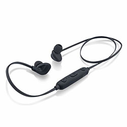 (Renewed) iBall EarWear Sporty Wireless Bluetooth Headset with Mic for All Smartphones (Full Black)