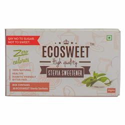 ECOSWEET Stevia Sweetner, 30gm Box (Sugar free Keto Diet friendly Zero Calories Zero Glycemic index Diabetic Friendly Vegan)