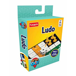 Funskool Games - Travel Ludo, The Classic startegy Game Board, Portable Classic Travel Games, Kids and Family, 2 - 4 Players, 6 & Above