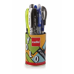 Cello Yolo Stationery Combo Pack (12 Stationery Items) Includes Ball Pens, Gel Pens,whiteboard Markers, Permanent Marker, Highlighters & Mechanical Pencil  Perfect Pack For School And College Students