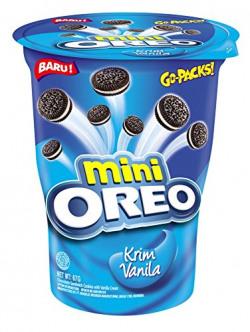 Oreo Mini Cream-Filled Vanilla Sandwich Biscuits (67g) - Pack of 2