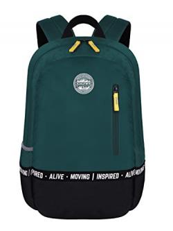 Gear Bomber Eco Statement 2C 25 Ltrs Bottle Green Black School Backpack (BKPECOSNT0301)