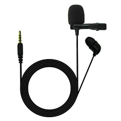 JBL Commercial CSLM20 Omnidirectional Lavalier Microphone, Earphone for calls, Video Conferences, and Monitoring, black, small