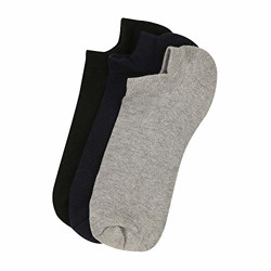 STOP Men's Elastic Cuff Blended Socks (Pack of 3) (203141201_Assorted_Free Size)
