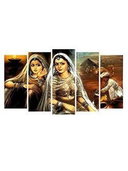 999STORE Wood Historical Wall Painting, Multicolour, Classic