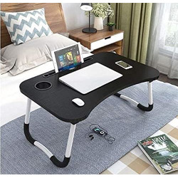 DECORVAIZ Multipurpose Laptop Table with Dock Stand & Non-Slip Legs Foldable and Portable Lapdesk for Study & Bed